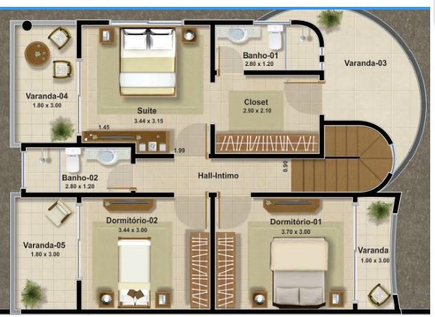 Plantas de casas t rreas com 3 quartos decorando casas for Decorar casas online 3d