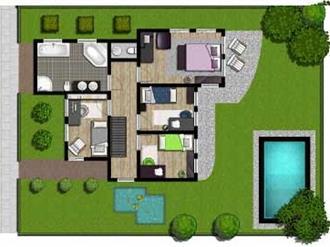 plantas-de-casas-térreas-3-quartos