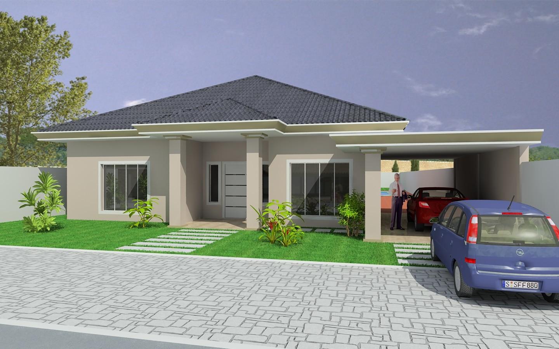 Projetos de casas t rreas com 3 quartos decorando casas for Modelos de casas pequenas y bonitas