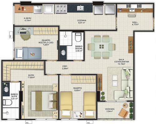 projetos-de-casas-com-3-quartos