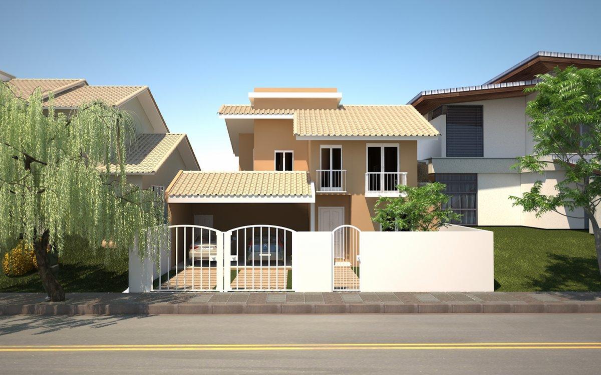 Projetos de casas com 3 quartos decorando casas for Fachadas de casas modernas 3 cuartos