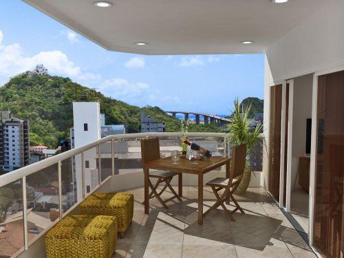 Decoraç u00e3o varanda e sacada pequena apartamento Decorando Casas -> Decoração Para Varanda De Apartamento Simples