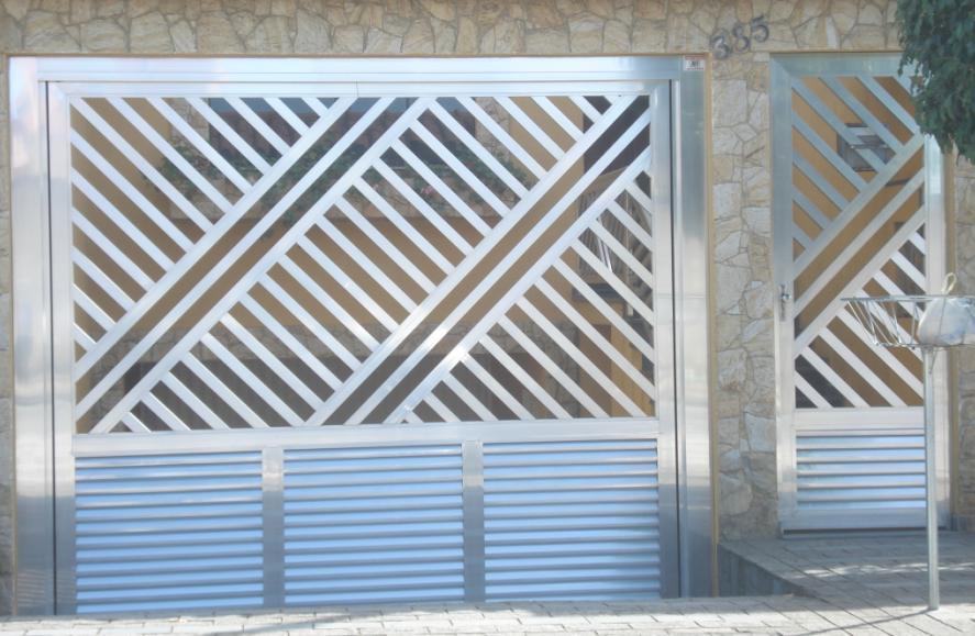 Suficiente Modelos de portões de alumínio – Preços | Decorando Casas QI71
