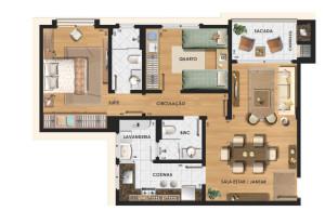 Plantas-de-apartamentos-com-2-quartos