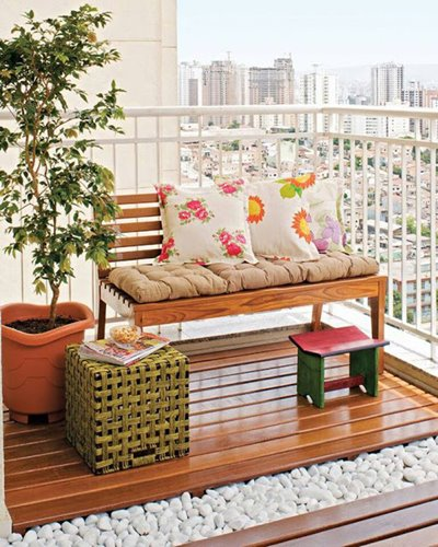 ideias jardim varanda:Decoração varanda pequena e simples