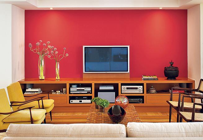 Dicas de tintas para parede da sala decorando casas for Paredes de salas modernas
