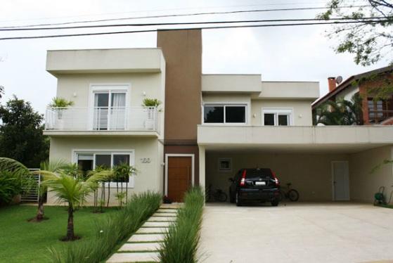 Fachadas de casas modernas sem telhado aparente Fachadas modernas para casas
