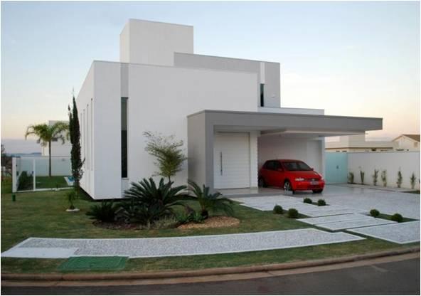 Fachadas de casas modernas sem telhado aparente for Fachadas contemporaneas para casas