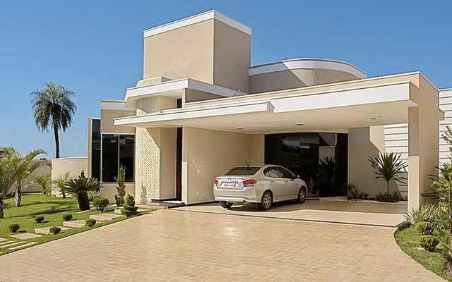Fachadas de casas modernas sem telhado aparente for Fachadas de casas modernas 1 piso