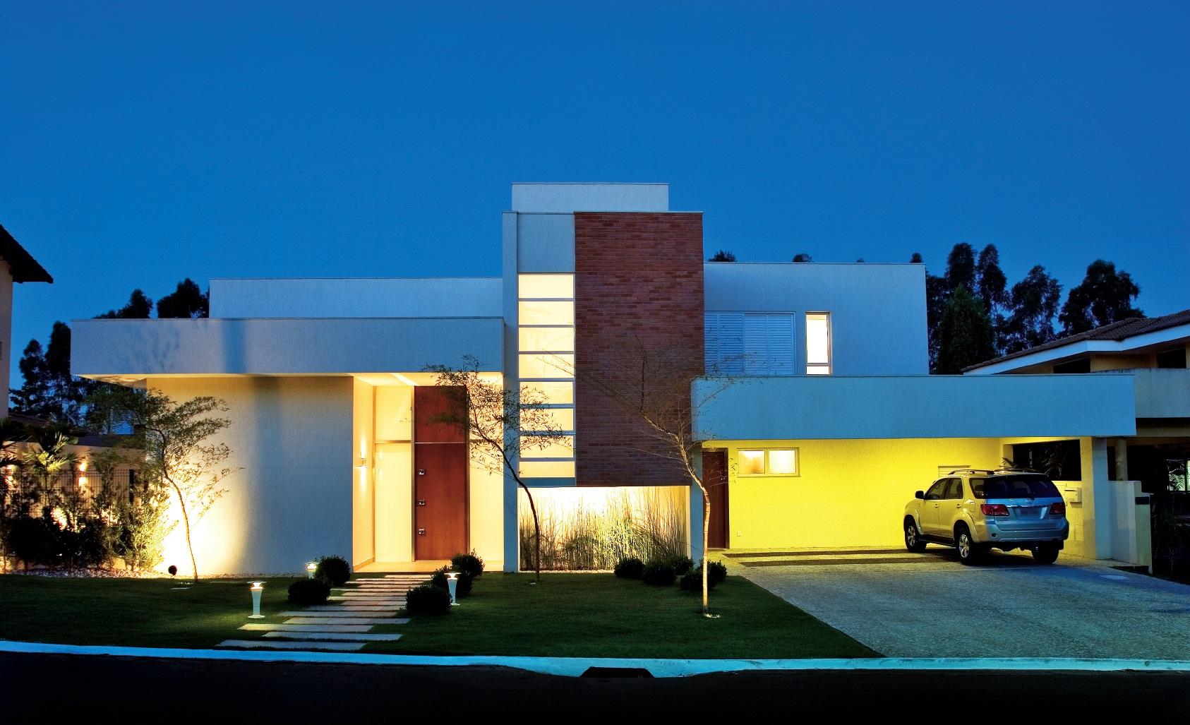 Fachadas de casas modernas sem telhado aparente for Fachadas de viviendas modernas