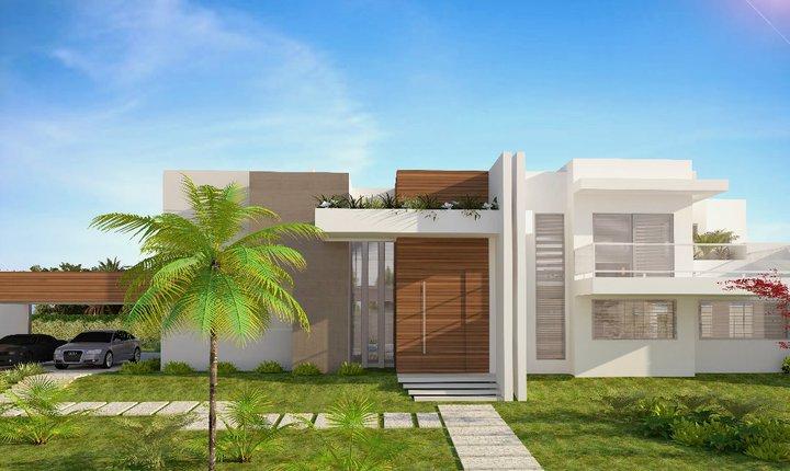 Fachadas de casas modernas sem telhado aparente decorando casas for Casas modernas para construir