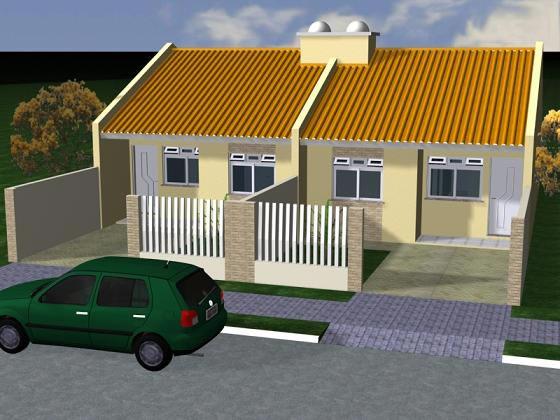 Fachadas de casas pequenas com telhados http for Ver modelos de casas pequenas