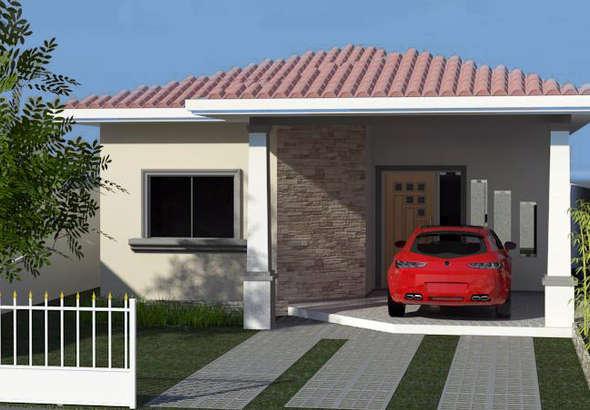 fachadas de casas pequenas com telhados - Fachadas De Casas Pequeas