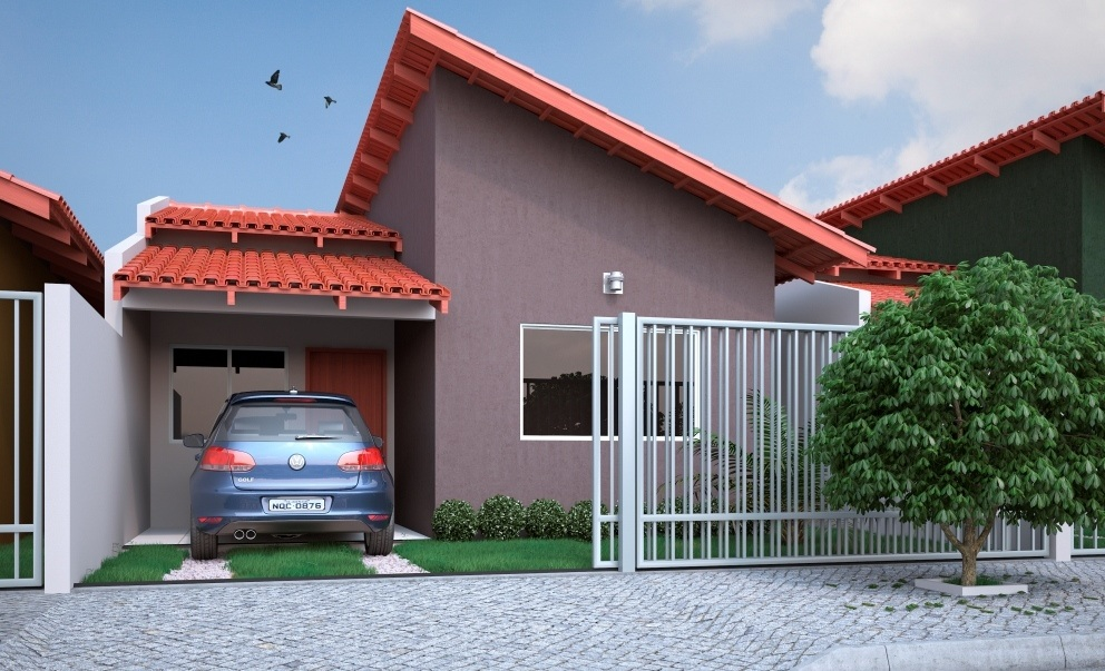 Fotos de fachadas de casas modernas com telhado embutido e - Fotos de casas pequenas ...