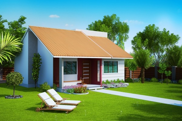 Fachadas de casas pequenas com telhados http for Fachadas de viviendas pequenas