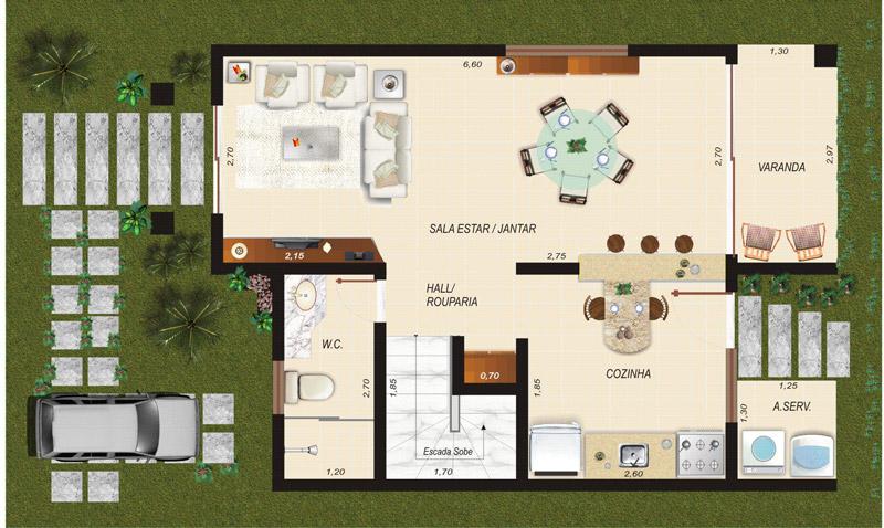 Plantas de casas duplex com 3 quartos decorando casas - Plantas para casa ...