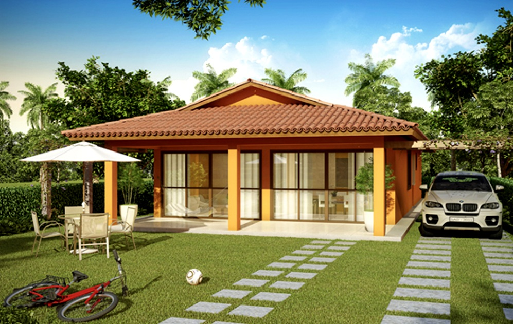 Plantas de casas t rreas modernas decorando casas for Modelos de casas de campo de una planta