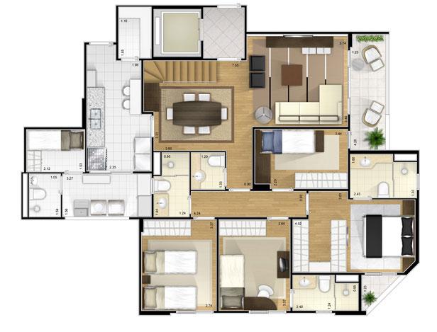 plantas de casas trreas modernas - Planos De Casas Modernas