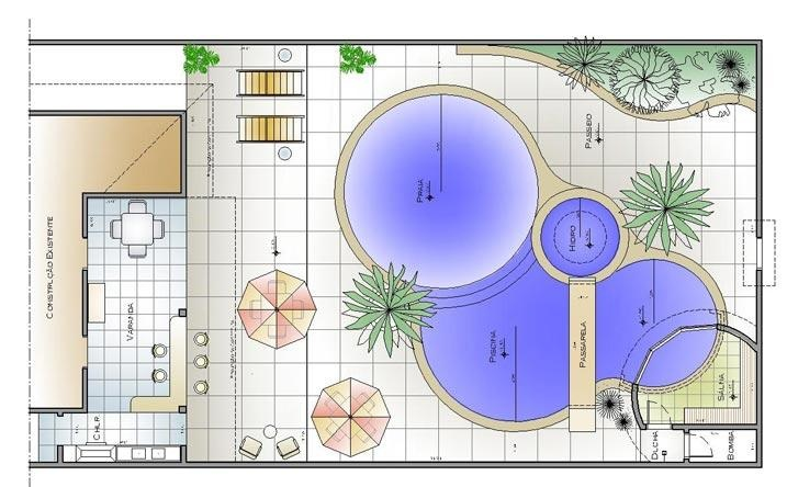Projetos de plantas baixas great ltimas planta baixa casa for Plantas para piscinas