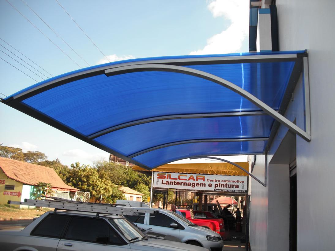 Toldos para garagem e ve culos decorando casas - Techo transparente policarbonato ...