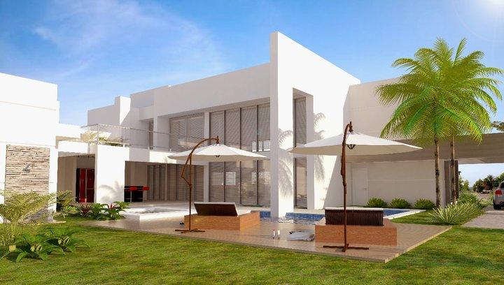 Pinturas de casas modernas 2014 decorando casas - Pintura para fachadas de casas ...