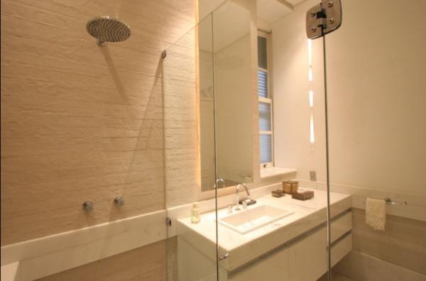 Revestimentos bege para banheiro  Decorando Casas -> Banheiro Decorado Com Material Reciclavel