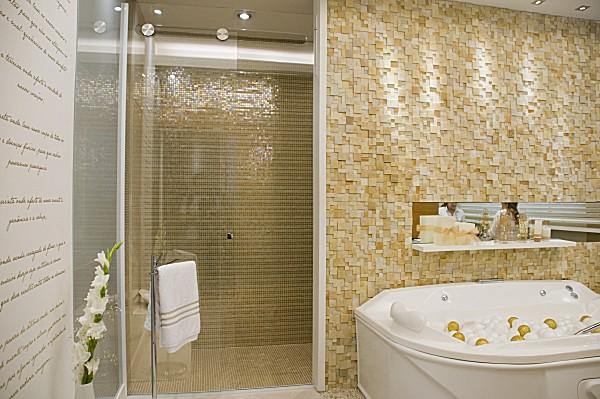 Banheiros Revestidos Simples : Revestimentos bege para banheiro decorando casas
