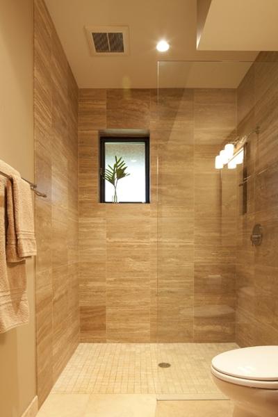 Revestimentos bege para banheiro  Decorando Casas -> Banheiro Pequeno Bege