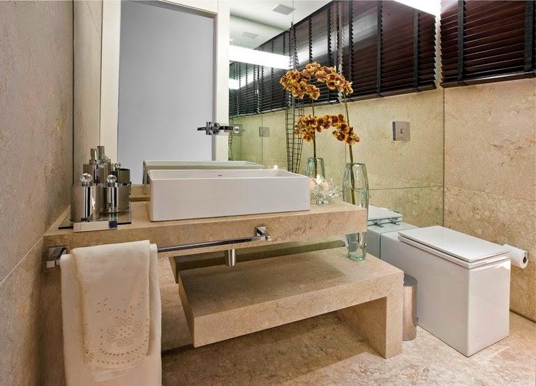 Decoração de banheiros modernos e sofisticados  Decorando Casas -> Decoracao De Banheiros Com Duas Cubas