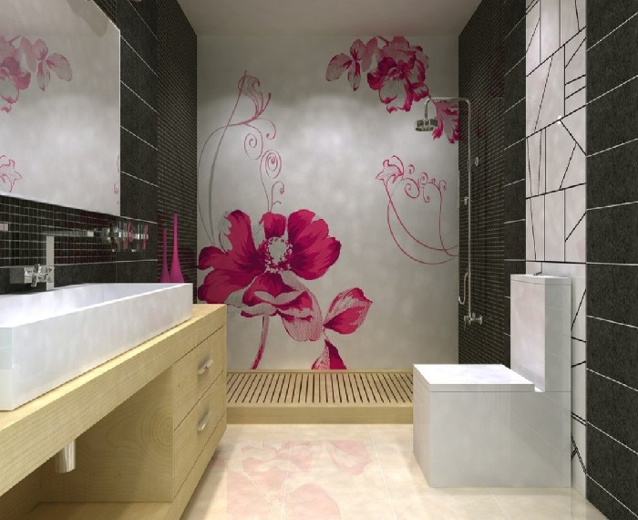 Decoração de banheiros modernos e sofisticados  Decorando Casas -> Decoracao De Banheiro Com Material Reciclado