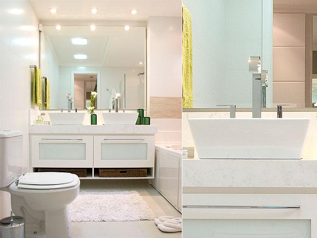 Como decorar banheiro gastando pouco  Decorando Casas -> Banheiro Decorado Com Pouco Dinheiro