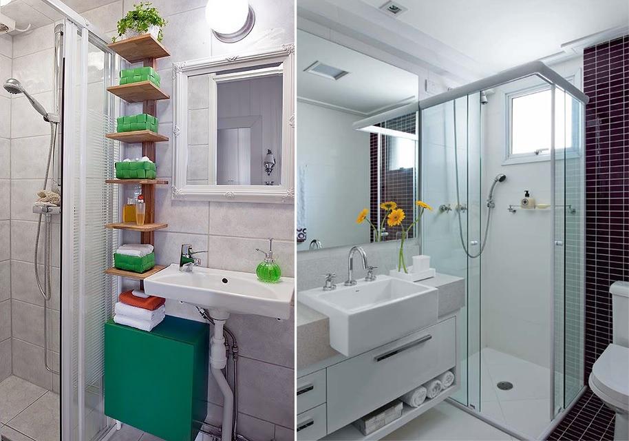Como decorar banheiro gastando pouco  Decorando Casas -> Decoracao Para Banheiro Pequeno Simples