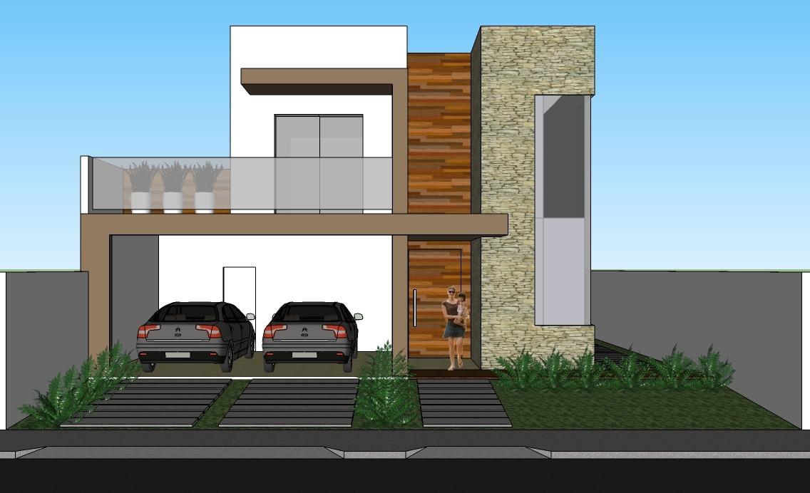 Fachadas de sobrados modernos com sacadas decorando casas for Fotos fachadas