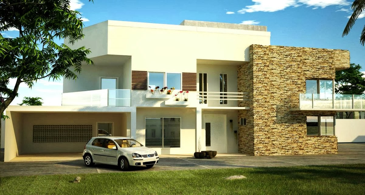 Fachadas de sobrados modernos com sacadas decorando casas for Casas modernas un nivel