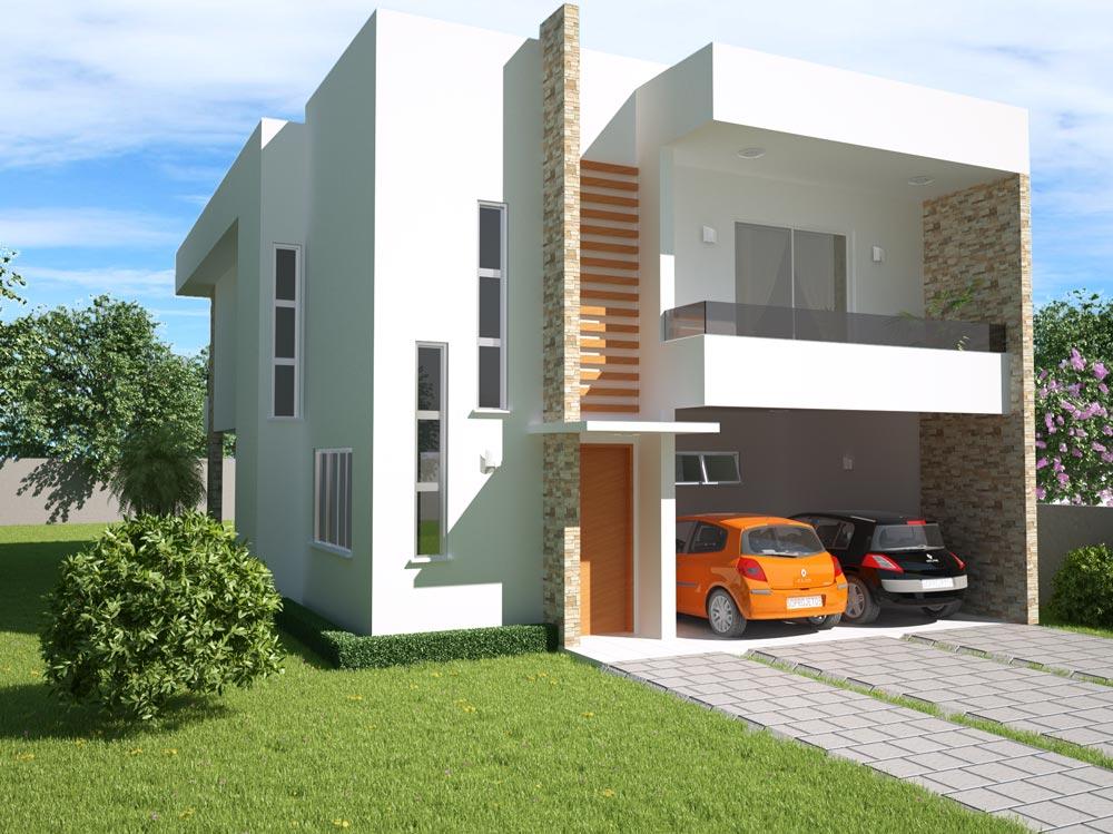 Fachadas de sobrados modernos com sacadas decorando casas for Casa moderna 11