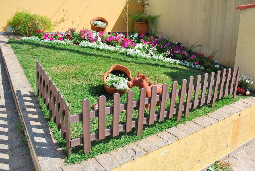 Enfeite De Jardin ~ Decoraç u00e3o de jardins com vasos de flores Decorando Casas