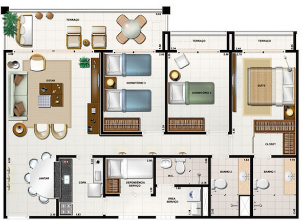 Plantas de casas de 2 andares decorando casas for Casa moderna 2 andares 3 quartos