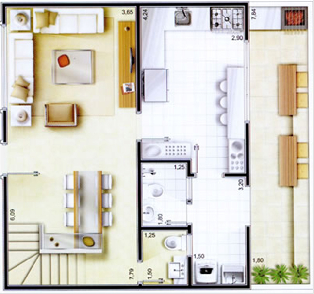 planos de casas pequenas segundo piso
