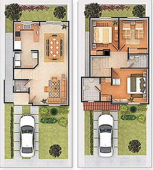 Plantas de casas de 2 andares decorando casas - Casas dos plantas pequenas ...