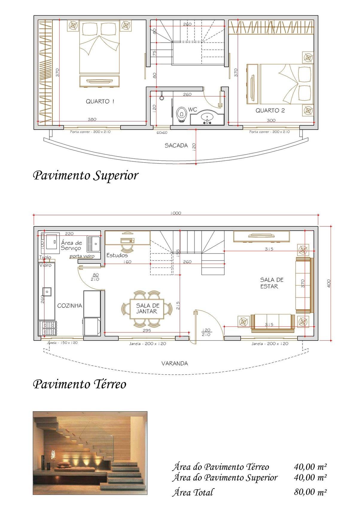Plantas de sobrados pequenos com 2 quartos Decorando Casas #91613A 1200 1697
