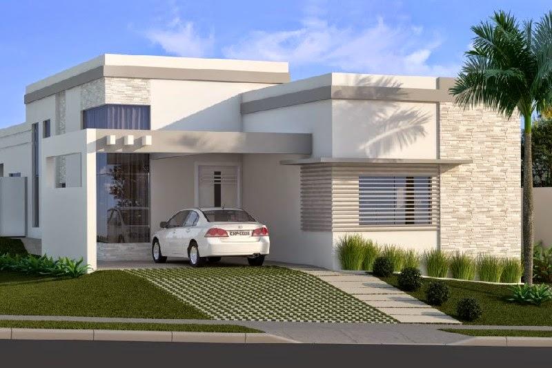 Projetos de casas modernas com telhado embutido for Casas modernas lindas