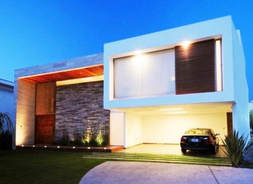 Projetos de casas modernas com telhado embutido for Arquitectura moderna casas pequenas