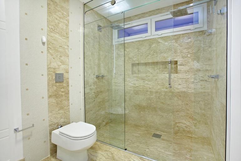 Revestimento de parede para banheiros  Decorando Casas -> Revestimento De Banheiro Com Banheira