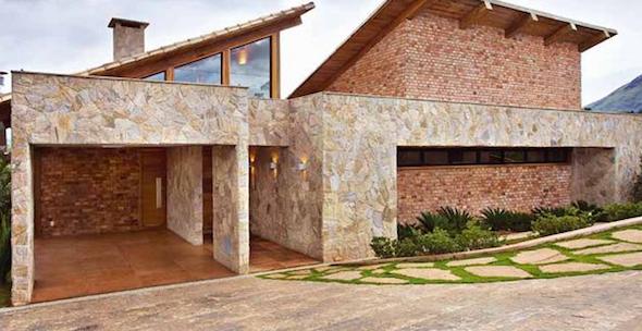 Revestimentos externos fachadas casas decorando casas for Fachadas de ceramica