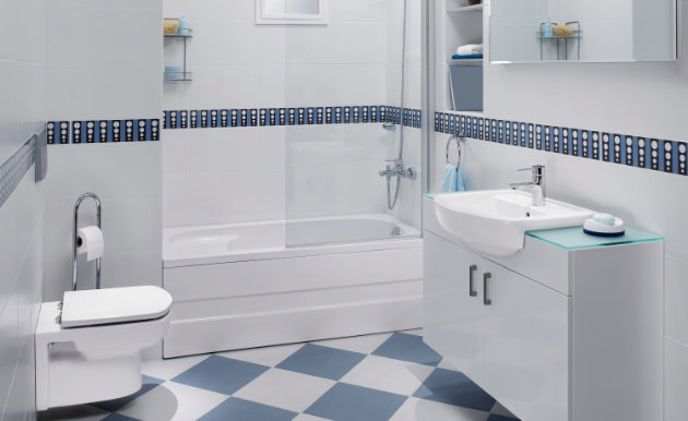 Azulejos para banheiros pequenos e modernos decorando casas Banos pequenos pintados