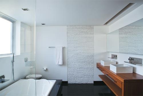 Azulejos para banheiros pequenos e modernos  Decorando Casas -> Banheiros Modernos Claros