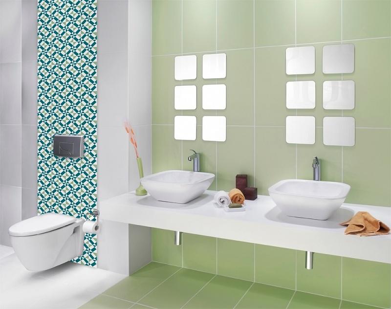 Azulejos para banheiros pequenos e modernos  Decorando Casas -> Banheiro Pequeno Azulejo