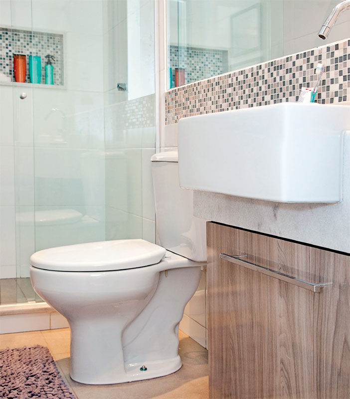 Azulejos para banheiros pequenos e modernos  Decorando Casas -> Reforma Banheiro Moderno