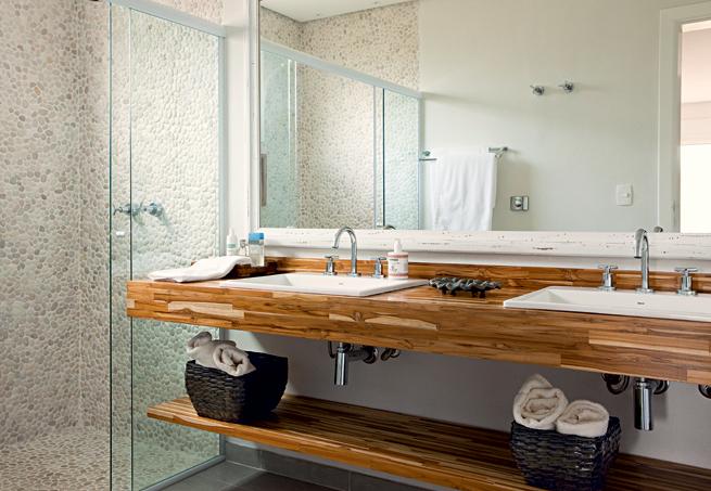 Dicas decoração banheiro lavabo  Decorando Cas -> Armario De Banheiro De Madeira Rustica