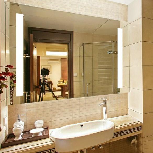 Espelhos para banheiros com luz  Decorando Casas -> Armario De Banheiro Com Espelho E Luz